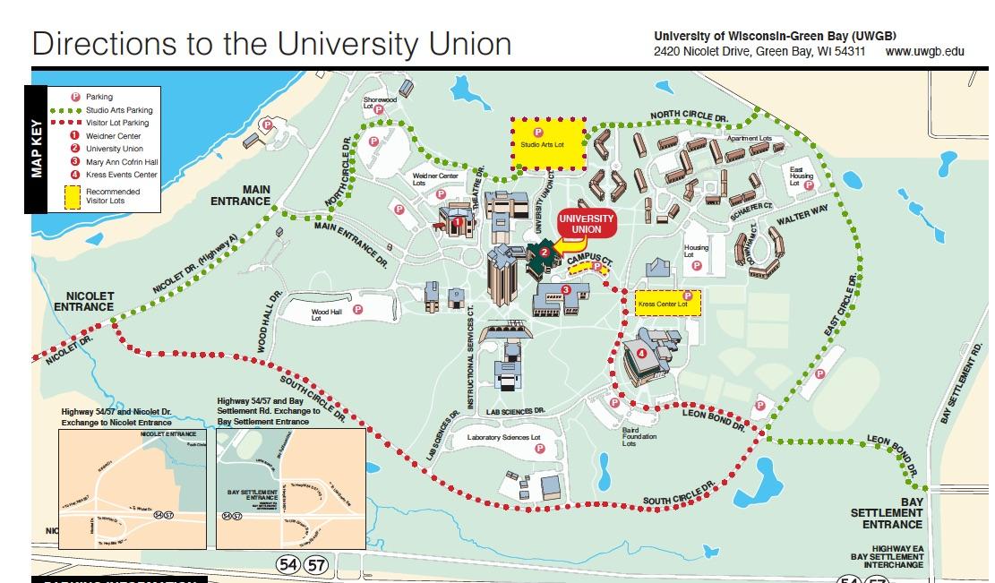 Uwgb Campus Map   Park Ideas